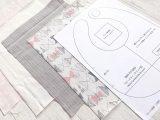 【無料型紙】ベビースタイ(ラウンド型)【PDF商用可能フリーパターン】